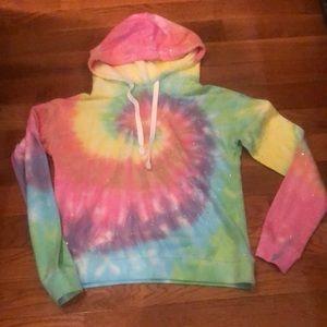 Generation Love tie dye sparkle hoodie sweatshirt